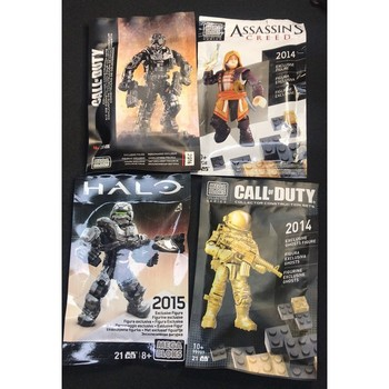 HALO CALL OF DUTY ASSASSIN'S CREED 2014 2015 2016 SDCC EXCLUSIVE FIGURE NEW rare