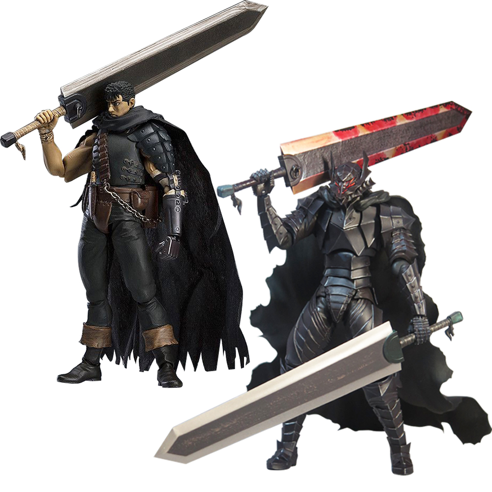 17cm Berserk Guts BERSERK And The Band Of The Hawk 359 Figma Max Factory Action Figure Japanese Anime PVC Adult Action Figures