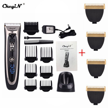 Ckeyin Professional Hair Clipper Men Hair Trimmer Beard Trimer Electric Cutter Hair Cutting Machine Haircut Barber Tool vgr 11 in 1 multifunction hair clipper professional hair trimmer electric beard trimmer hair cutting machine trimer cutter 5
