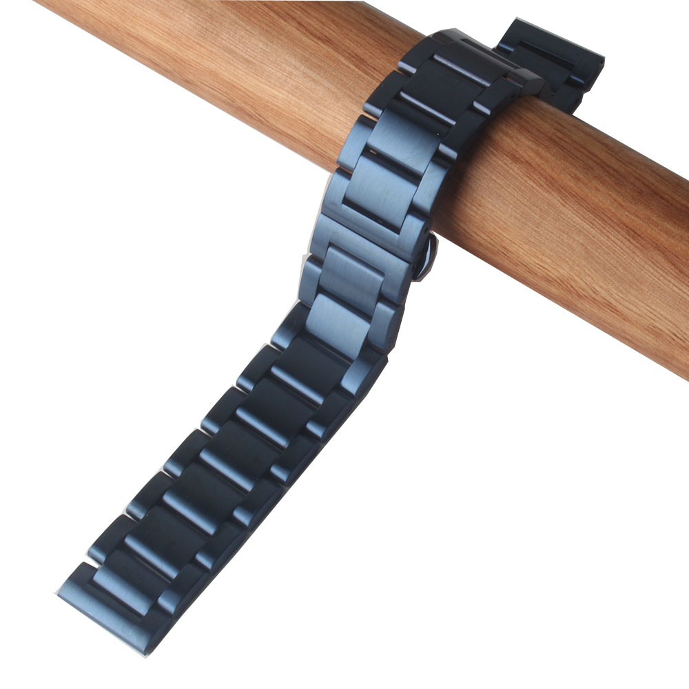 22 24mm azul escuro fosco unpolished metal