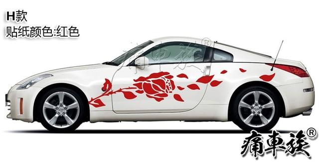 Car Sticker For Nissan 350Z Body Door Exterior Decoration Modified Sticker TT R8 Z4  GT-R Racing Sticker 3