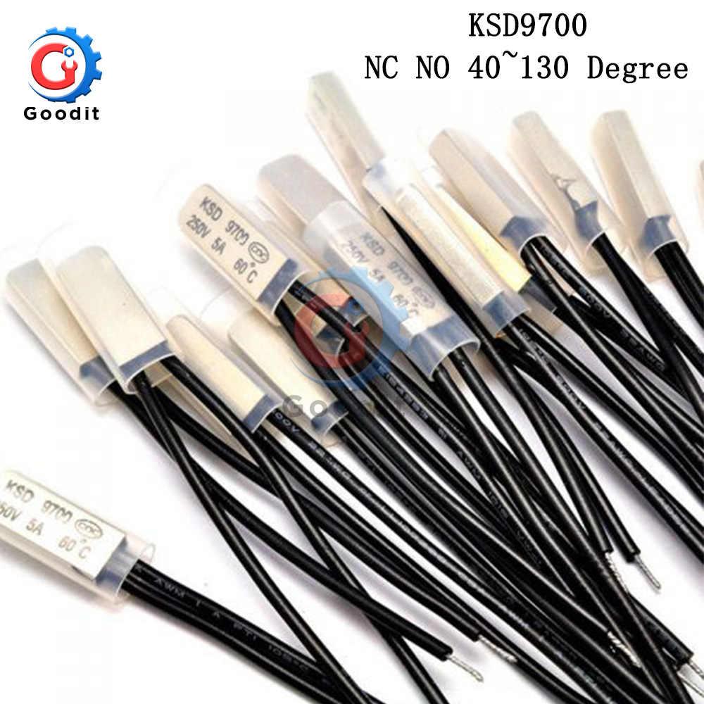 KSD9700 250V 5A 40 ~ 130 Graus Disco Bimetálico Temperatura Mudar Normal Fechar Termostato Fechado Protetor Térmico