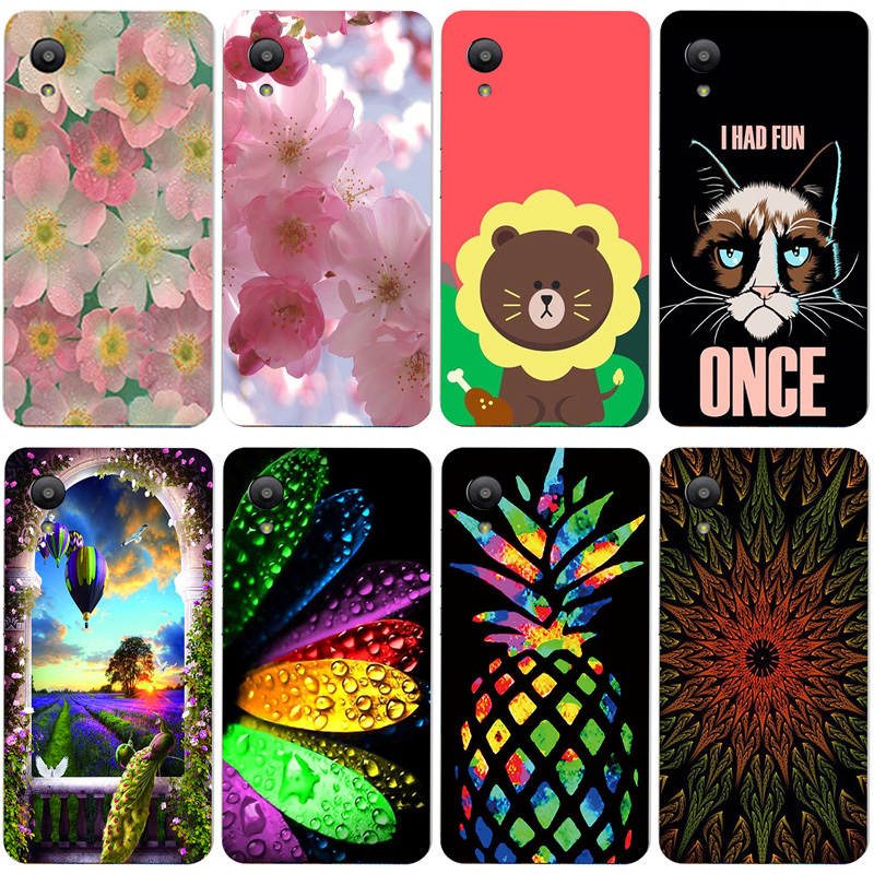 Silicone Printed phone Case for Sharp Aquos S3 Mini FS8018 cases soft TPU Phone Back cover full 360 Protective shell new design