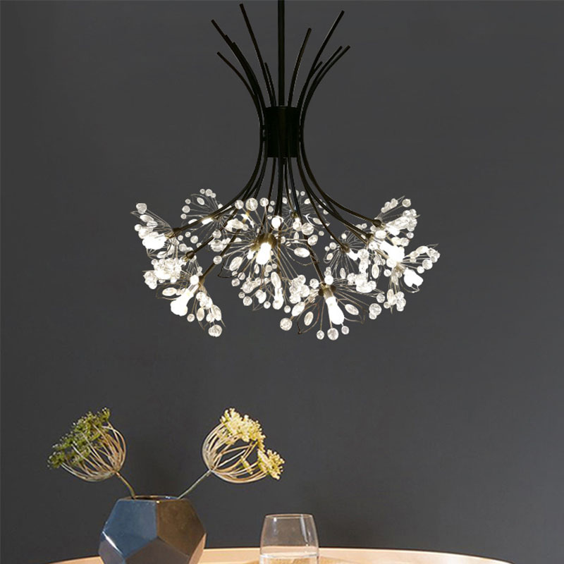 Creative Chandelier Post Modern Restaurant Clothing Store Bar Counter Staircase Mall Dandelion Crystal Chandelier