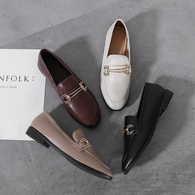 €17.64 30% СКИДКА|Женская обувь в стиле ретро; повседневные женские кроссовки с круглым носком и бантом; женские мокасины; сезон осень; универсальная элегантная обувь Modis|Обувь без каблука| |  - AliExpress