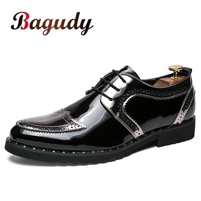 Мужские кожаные модельные туфли; вечерние свадебные туфли; мужские туфли на плоской подошве; деловые мужские туфли-оксфорды на шнуровке; се... на русском алиэкспресс