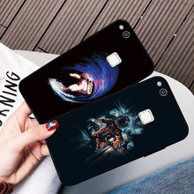 For Huawei P20 P30 P10 P8 P9 Lite 2017 Newest Black TPU Phone Case Cartoon Astronaut Bags Honor 8 Cover Y5 Y6 Fundas