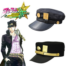 JoJo's Bizarre Adventure Hat Kujo Jotaro Joseph Hat Army Caps Cosplay Props Halloween Christmas Jojo Cap Headwear(China)