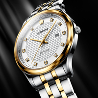 Switzerland LOBINNI Men Watch Luxury Brand Japan Citizen Quartz Men's Wirstwatches Calendar Sapphire Steel World Time 3006
