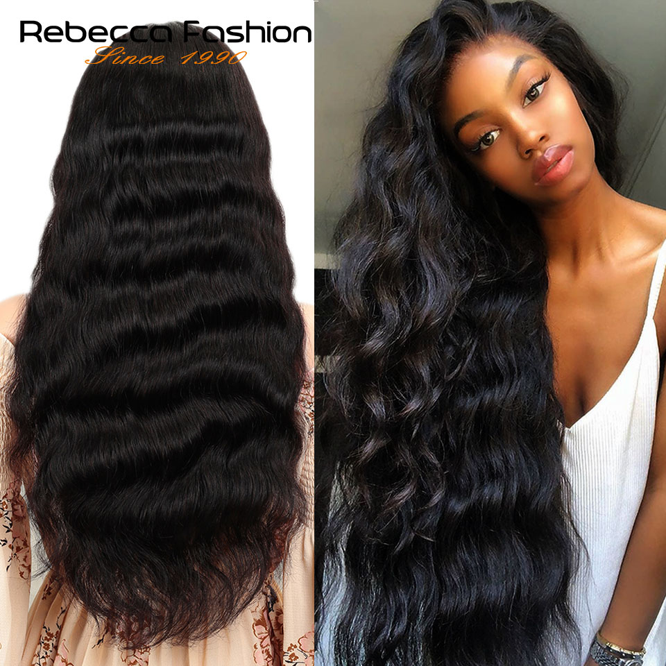 Rebecca 150% Lace Front Human Hair Wigs 8 To 30 Inch 13X4 Pre Plucked Remy Brazilian Body Wave Lace Frontal Wigs With Baby Hair