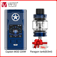 Vaper 220W bateria Mod vape elektroniczny papieros Capt #8217 n Box Mod wsparcie 18650 bateria Mod dla 510 zestaw nici 1 3 #8222 monitor TFT tanie tanio Vaptio NONE 3500 mAh CN (pochodzenie) Innych 220W box mod Capt n 220W Mod 220w affordable vape mods External 2*18650 battery(not included)