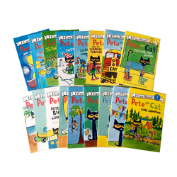 17 Books/set I Can Read Pete The Cat Picture Books Children Baby Famous Story English Tales Child Book Farmyard Book Set