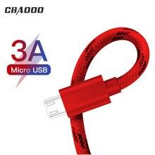 CBAOOO 3A Micro 1 м 2 м 3 м USB кабель для мобильного телефона кабель для быстрой зарядки мини USB кабель для samsung millet mobile phone charg