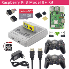 Raspberry Pi 3 Modell B + Spiel Kit + Drahtlose Gamepads + 32GB SD Karte + Power Adapter + HDMI | Retroflag SUPERPi Fall für RetroPie