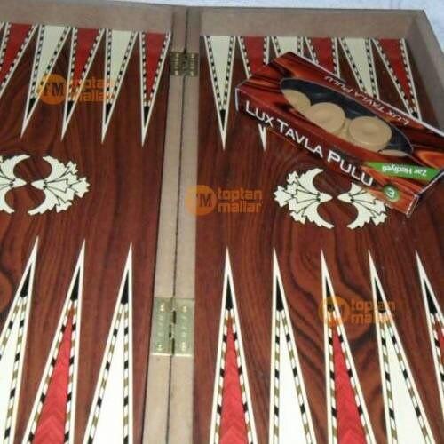 De Madera juego de habilidad de Backgammon turco, otomano juego de gran tamaño 48x48 tamaño personalizado diseño de Backgammon - 3