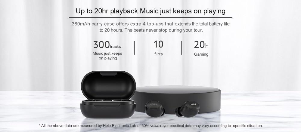 QCY M10 TWS Bluetooth V5.0 Wireless Earphones 10
