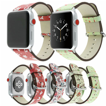 Genuine leather loop strap for apple watch band 42/38mm apple watch 4 44/40mm bracelet for iwatch 5/4/3/2/1 correa replace band hoco new genuine leather 44 42 40 38mm watchband for apple watch 4 3 2 first layer cattle leather strap bracelet for iwatch