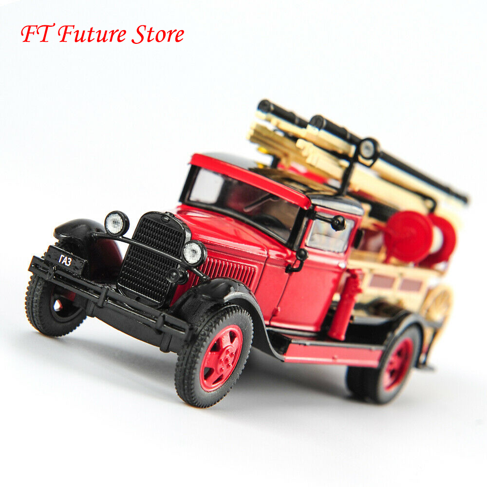 Collectible 1/43 Scale Diecast Russia <font><b>Car</b></font> <font><b>Model</b></font> GAZ PMG-1 Classic Fire Truck <font><b>Model</b></font> Toys for Children Kids Holiday Gifts image