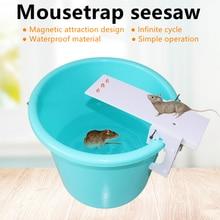 цена на DIY Home Garden Pest Controller Rat Trap Quick Kill Seesaw Mouse Catcher Bait Kitchen Restaurant Hotel Rat Mice Mouse Traps