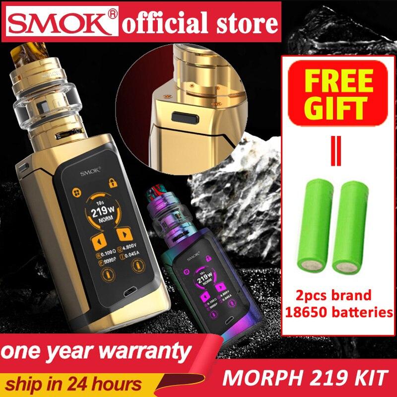 En Stock humo Morph 219 Kit 219W TC Morph 219 Mod TF2019 BF-Malla de bobina Dual 18650 batería cigarrillo electrónico humo Vape Kit