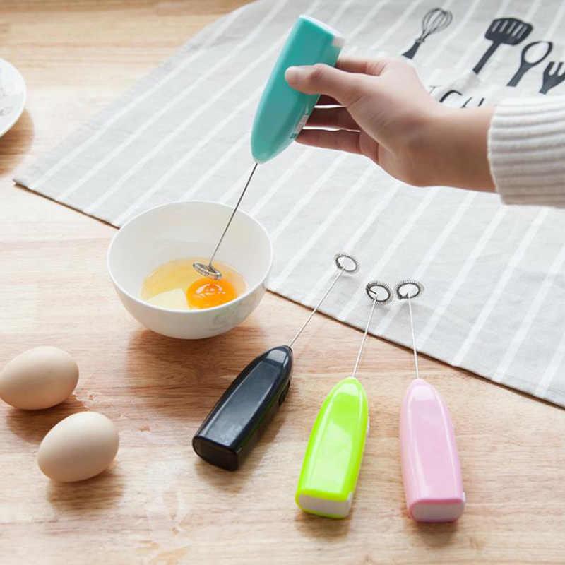 1pc Melk Drinken Koffie Whisk Mixer Elektrische Eiklopper Frother Foamer Mini Handvat Stirrer Praktische Keuken Koken Tool