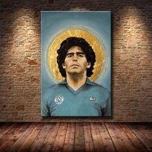 Diego maradona hopestyle arte poster da lona arte da parede decoração cópias para sala de estar crianças quarto casa decoração pintura