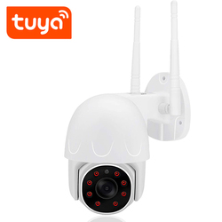QZT Tuya PTZ IP Camera Outdoor WIFI Wireless Smart Home Security Camera Video Surveillance Night Vision CCTV Camera WIFI Outdoor