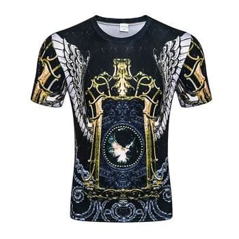 2020 New 3D Print Pokemon T-Shirt Black and White Fashion Casual Short Sleeve Ink Pokemon Pattern Menswear 2