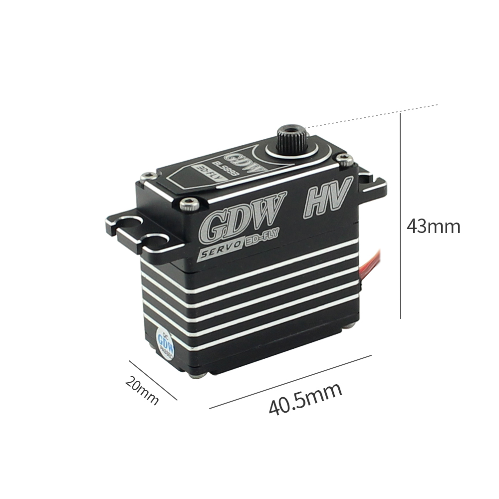 Image 3 - GDW BLS893HV 78g Metal Steering Gear 38kg Maximum Torque Large  Fixed Wing Vehicle Model Robot Steering GearParts