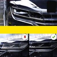 Lsrtw2017 TPU Transparent Black Car Headlight Protective Film for Volkswagen Lamando Toureg Tharu Tiguan Passat Lavida