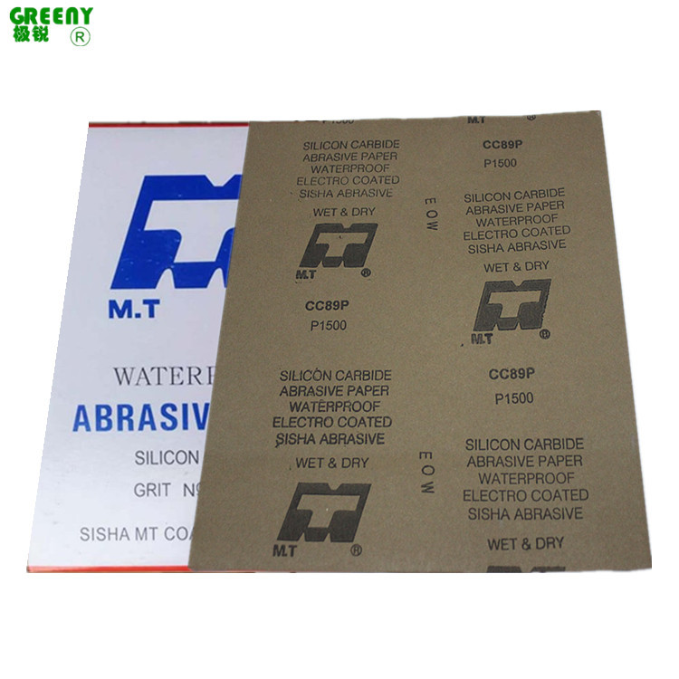 MT Waterproof Abrasive Paper 120 #-2000 # Authentic MT Wet And Dry Dual Purpose Sandpaper CC89P Polishing Sandpaper Abrasive Pap