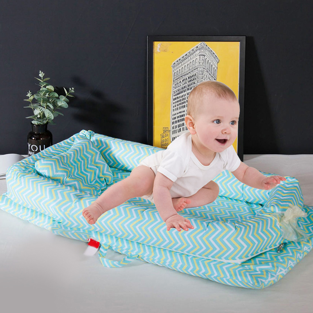 90*50*15cm Baby Nest Bed Portable Crib Travel Bed Infant Toddler Cotton Cradle For Newborn Foldable Baby Bassinet Bumper Cribs