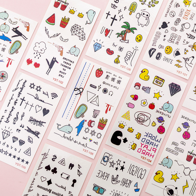 Cute Plant Stationery Stickers Kawaii Drink Stickers Paper Adhesive Stickers For Kids DIY Scrapbooking Diary Photos Albums