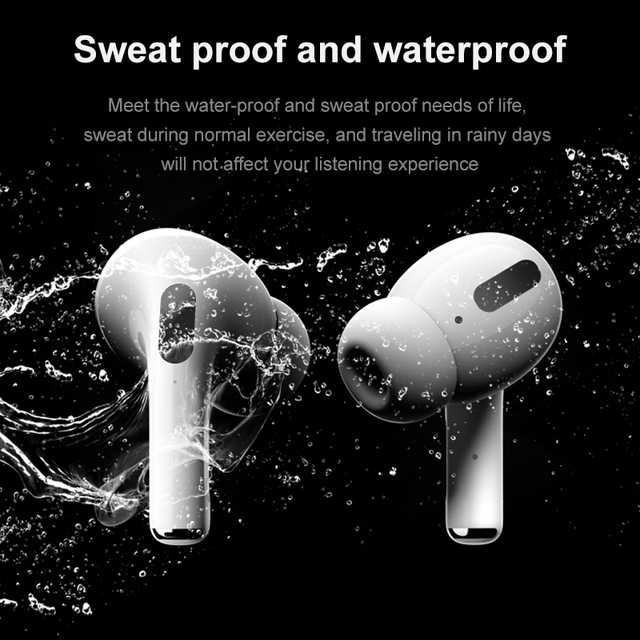 Airpodding pro Bluetooth Earphone Wireless Earbuds Noise Reduction Headphone with mic Sport Headset for Android IOS Smart Phone 5