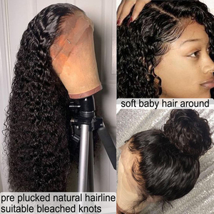 Image 3 - Parrucche di capelli umani ricci Nodi naturali decolorati Parrucche brasiliane Remy 13x6 in pizzo con parrucche pre pizzicate