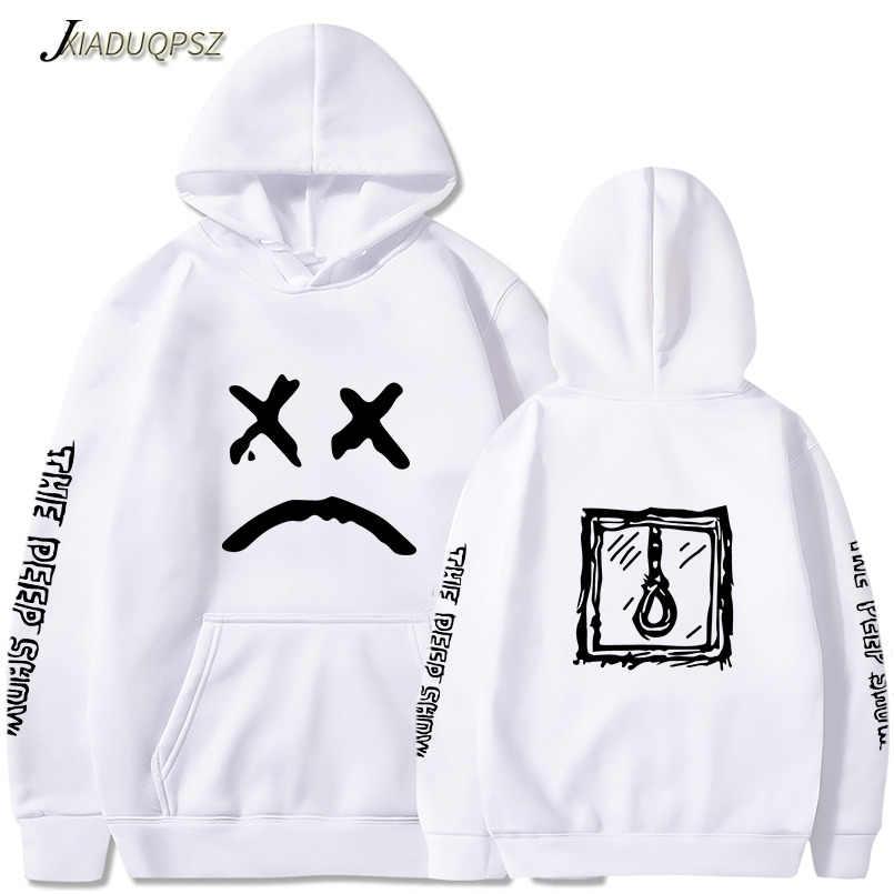 Lil peep funny hoodies 2018 lil peep 인쇄 된 스웨터 플러스 사이즈 남성용 캐주얼 양털 streetwear hoodies cry baby lil peep