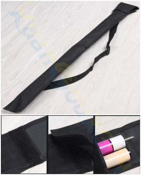 1/2 Sport Rod Case Durable Pool Cue Bag Storage Foldable Portable Shoulder Strap Billiard Stick Pouch Carrying Case