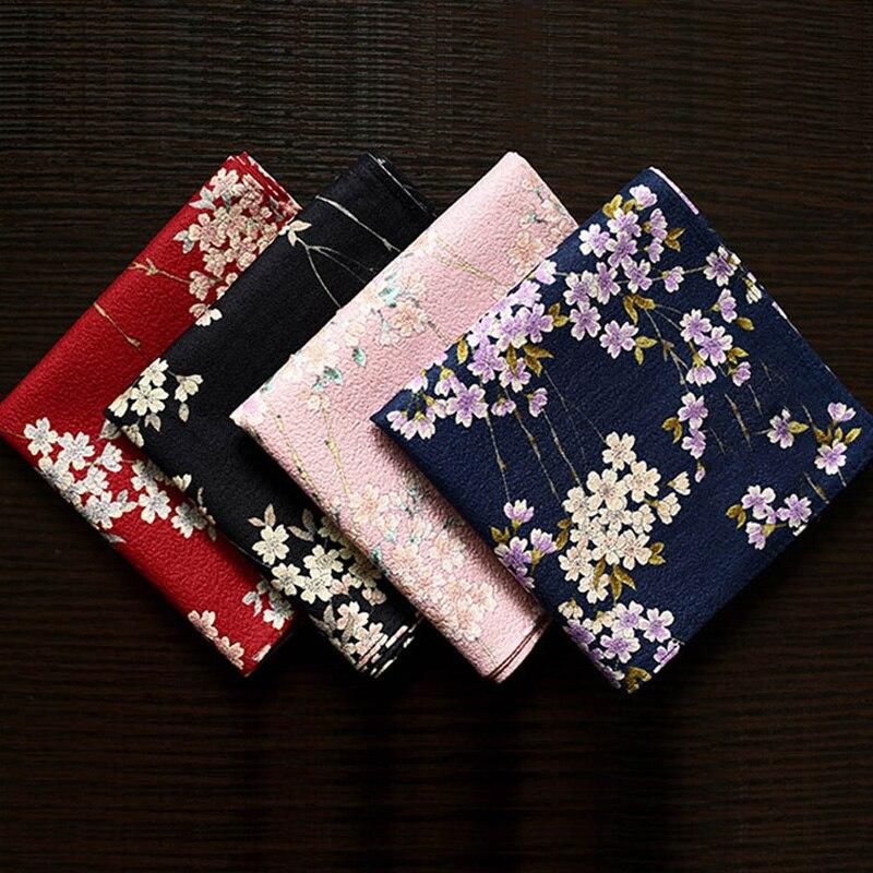 New Fashion Luxury Japan Handkerchiefs Multi-use Large Square Towel Slub Flower Pocket Gifts For Women Nice Sweet Soft Kerchiefs