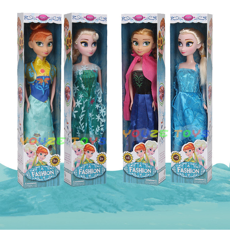 4PCS Styles High Quality Boneca 32cm Elsa Doll Girls Toys Fever 2 Princess Anna And Elsa Dolls Clothes For Dolls Children
