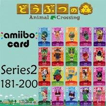 Пересечение животных подлинных данных новые горизонты игры Марио карты для NS переключатель 3DS игра набор NFC карт Ряда2 181-200 матовый материал