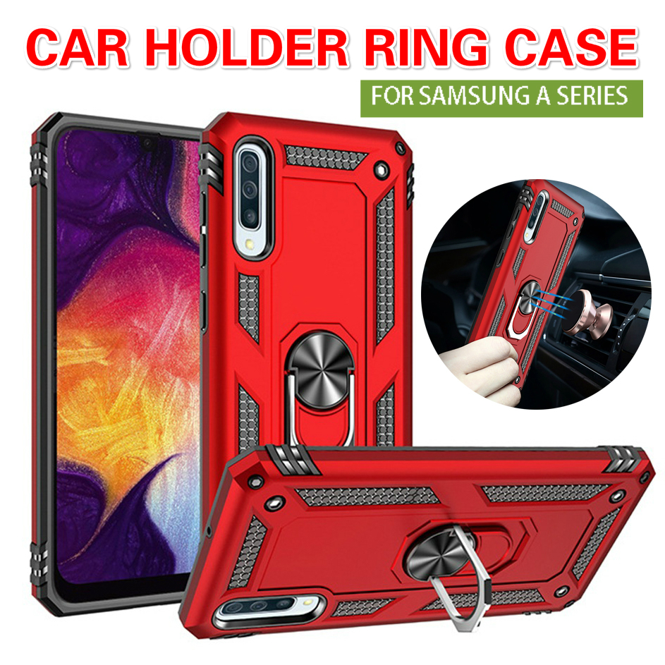 For <font><b>Samsung</b></font> <font><b>Galaxy</b></font> A50 A10 A60 <font><b>A20</b></font> A30 A40 Phone <font><b>Case</b></font> Magnet Car Holder Ring Armor <font><b>Shockproof</b></font> Cover For A90 A91 A9 A6 A7 A8 2018 image