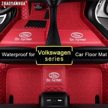 3D Waterproof Car Mats for VW Volkswagen Cross Gran Lavida Caravelle CC EOS TSI UP Lamando Accessories Leather floor mat Carpet