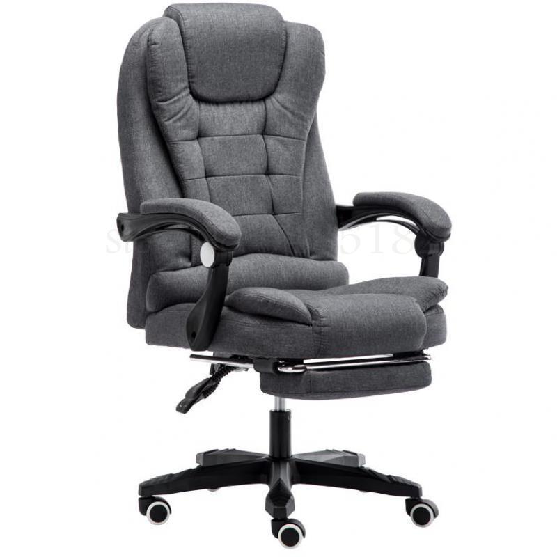 Computer Chair Home Office Chair Fabric Boss Chair Reclining Back Lunch Break Massage Swivel Chair Lift Study Chair