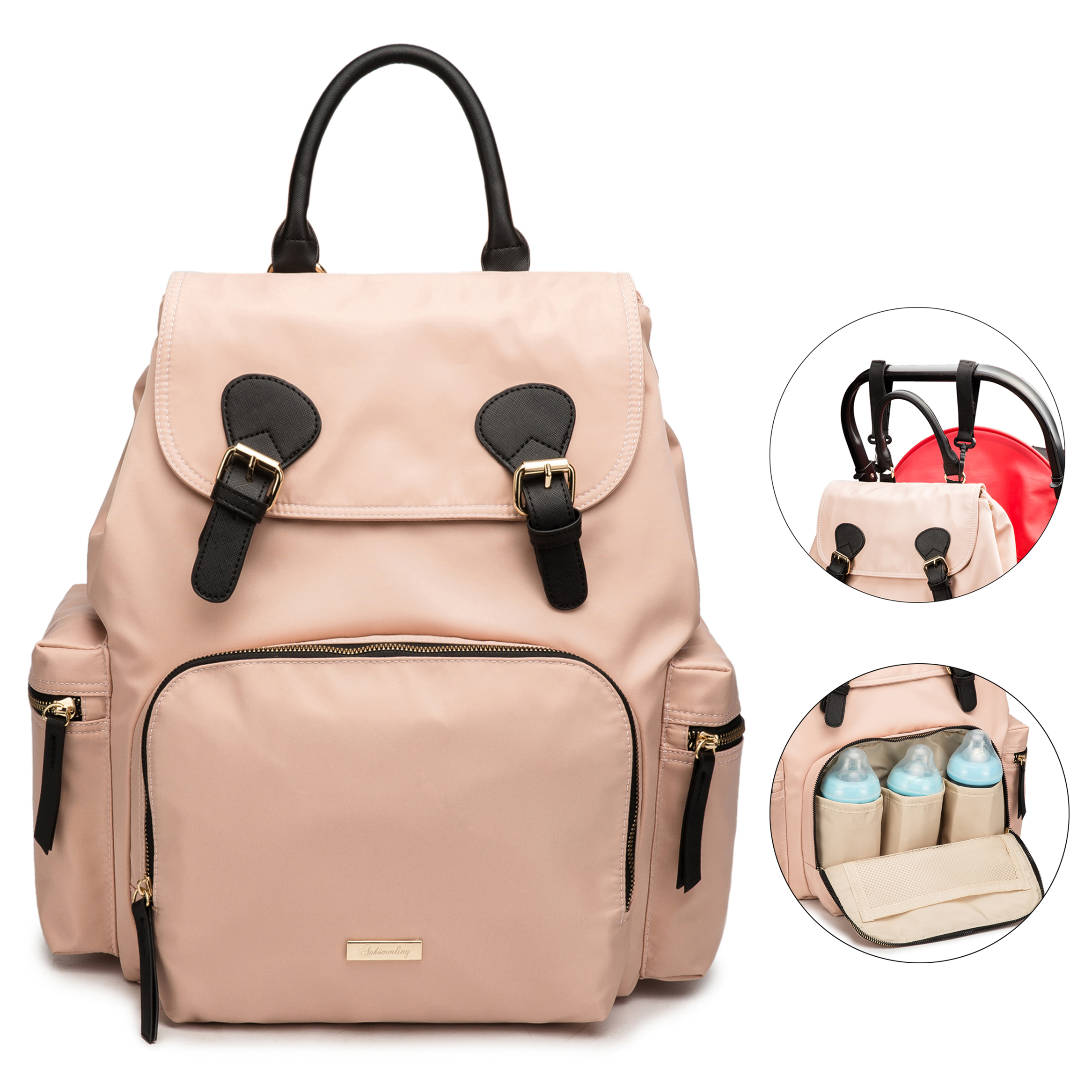 New Large Capacity Waterproof Mother Baby Diaper Bag Backpack Maternity Nappy Changing Bags For Mom Mommy Stroller Organizer