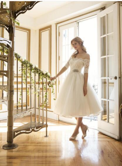 SERMENT Wedding Dresses 2019 Lace A Line Gowns Sexy Sheer New Arrival Bride Dress