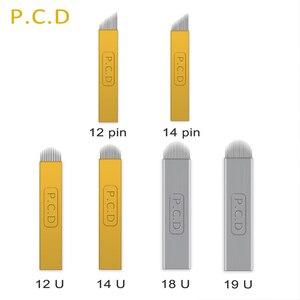 Image 5 - 100 sztuk igły do aplikacji Nano Agulhas Lamina wiele Para Flex 12 14 16 18 kształt tatuaż ostrza do Tebori ręczne do brwi Pen