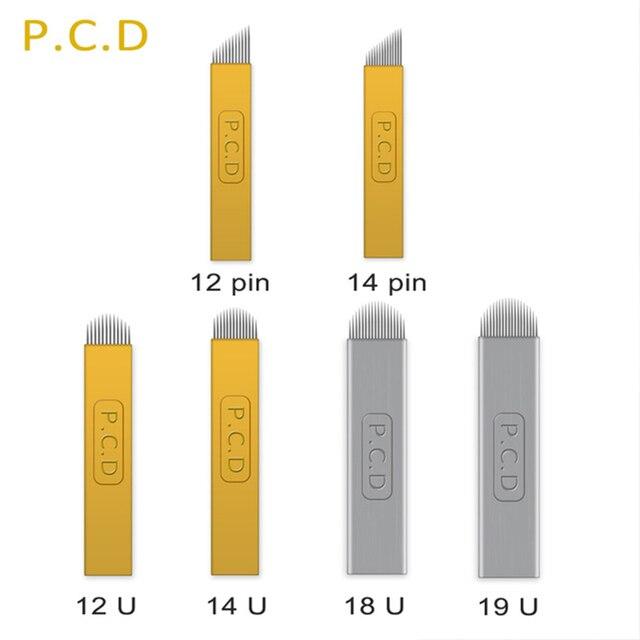 100pcs Microblading Needles 0.16mm nano Agulhas Lamina multiple Para Flex 12U Shape Tattoo Blades for Tebori Manual Eyebrow Pen 4
