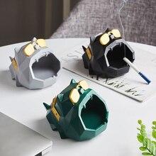 Resin Ashtray Office-Desk-Decor Boyfriend Creativity Living-Room Fashion Gift for Dog-Animal-Model