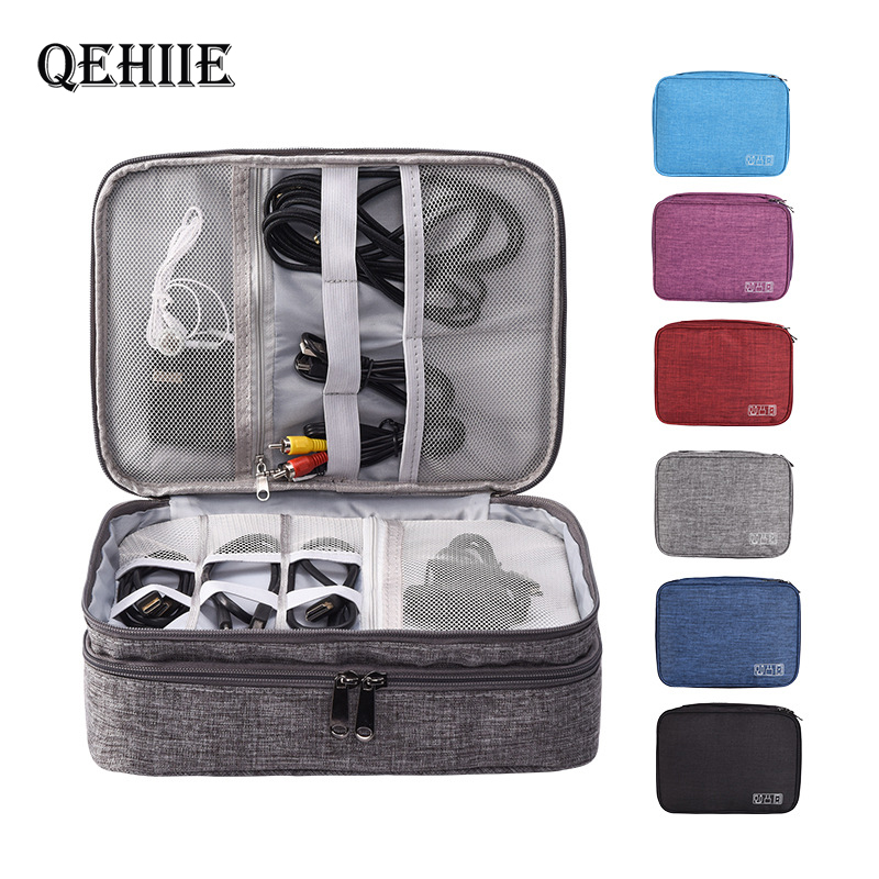 Travel Essentials Digital Packing Bags USB Data Cable Earphone Wire Pen Power Bank HDD Organizer Portable Travel Kit Case Pouch