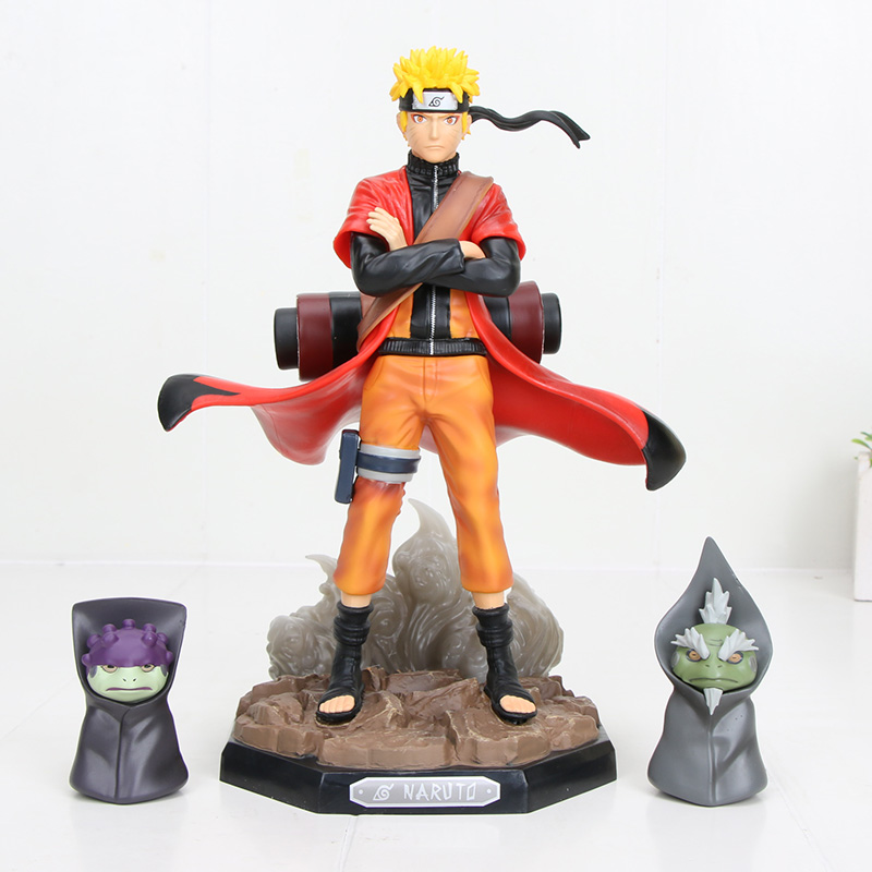 22cm Uzumaki Naruto Sage Mode Action Figure Toys Naruto Shippuden Anime Figurine With Frog Collectible Model Toy Doll